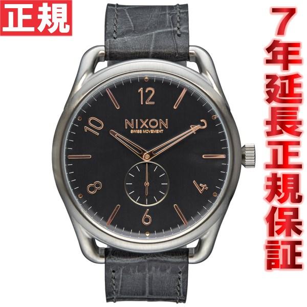 ニクソン NIXON C45レザー C45 LEATHER 腕時計 メンズ グレイゲーター NA4652145-00