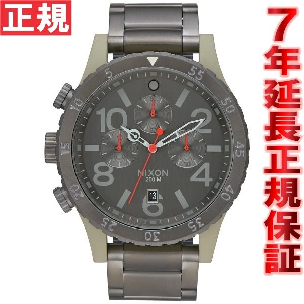 ニクソン NIXON 48-20クロノ 48-20 CHRONO 腕時計 メンズ クロノグラフ セージ/ガンメタル NA4862220-00
