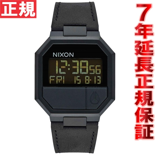 10%OFFクーポン!31日23:59まで! ニクソン NIXON リ・ランレザー RE-RUN LEATHER 腕時計 メンズ/レディース オールブラック NA944001-00