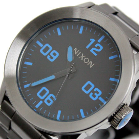Nixon PRIVATE SS NIXON private NA276624-00 gunmetal / blue Nixon