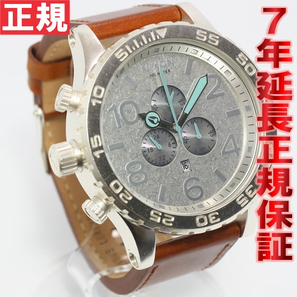 Nixon 51-30 Chrono leather NIXON 51-30 CHRONO SADDLE saddle watch NA124747-00