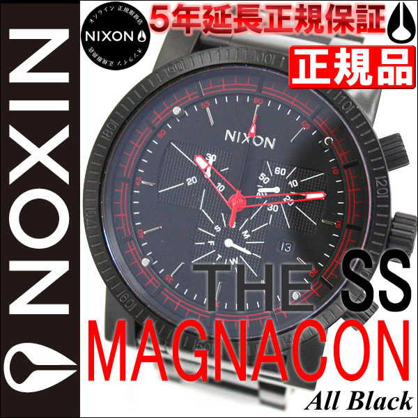 닉슨 NIXON MAGNACON SS マグナコンエスエス 시계 남성용 NA154001-00 올 블랙 NIXON 정규 닉슨