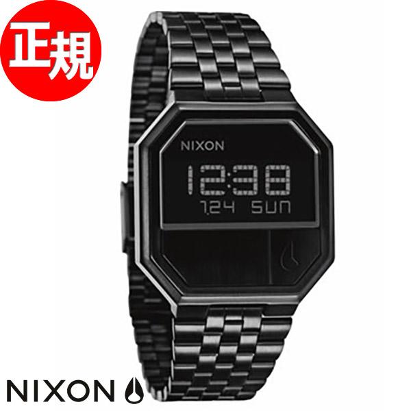 NIXON RE-RUN re run Nixon NIXON watches men's NA158001-00 Black