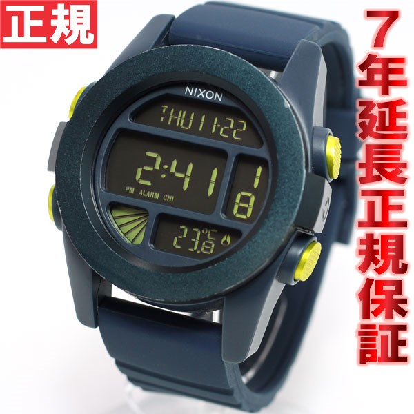 Nixon NIXON unit UNIT watches mens digital steel blue / yellow ANO NA1971264-00