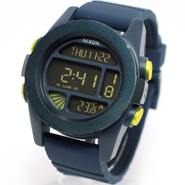Nixon NIXON unit UNIT watches mens digital steel blue / yellow ANO NA1971264-00