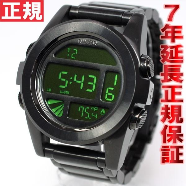 Nixon NIXON unit SS UNIT SS watch mens black / green digital NA360032-00