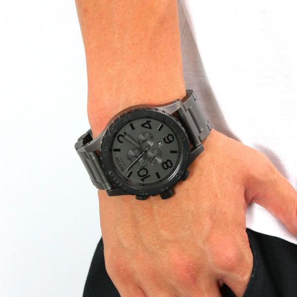 51-30 Nixon NIXON CHRONO Kurono watch men mat black / mat gunmetal chronograph NA0831062-00