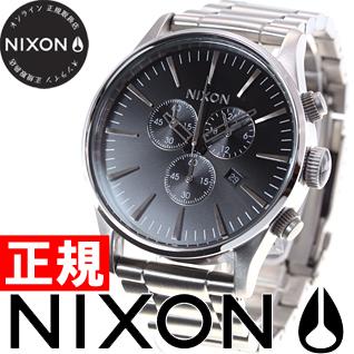 【お買い物マラソンは当店がお得♪本日20より!】ニクソン NIXON セントリークロノ SENTRY CHRONO 腕時計 メンズ クロノグラフ ブラック NA386000-00