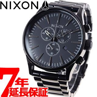 【SHOP OF THE YEAR 2018 受賞】ニクソン NIXON セントリークロノ SENTRY CHRONO 腕時計 メンズ クロノグラフ オールブラック NA386001-00