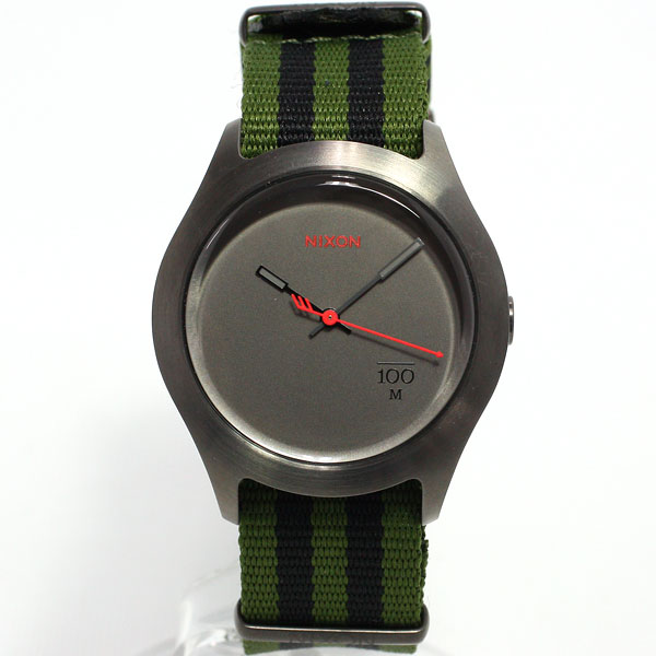 Nixon NIXON Quad QUAD watch men's / women's surplus / black nylon NA3441151-00