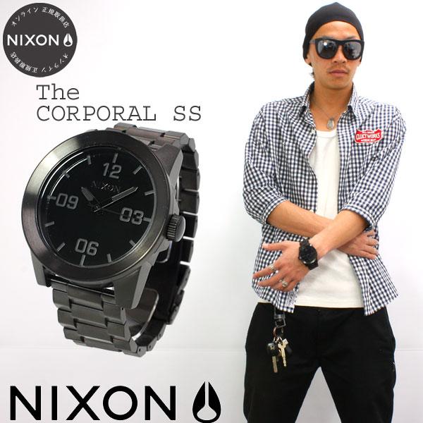 Nixon NIXON corporal SS CORPORAL SS watch mens black NA346001-00