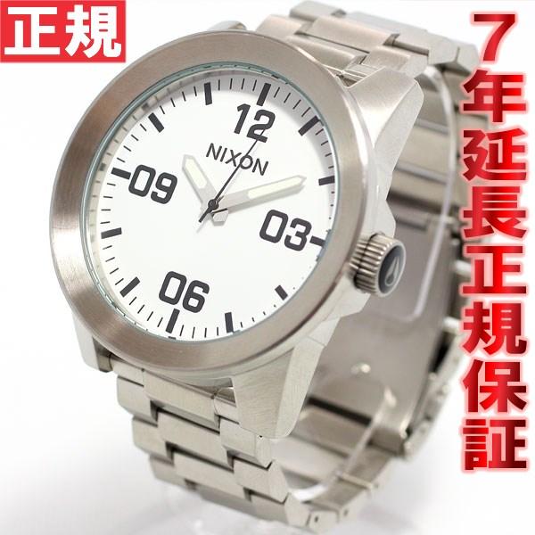 ニクソン NIXON コーポラルSS CORPORAL SS 腕時計 メンズ ホワイト NA346100-00