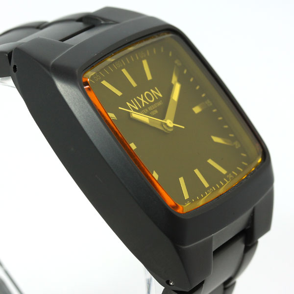 Nixon NIXON manual MANUAL watch men's matte black / オレンジティント NA2441354-00
