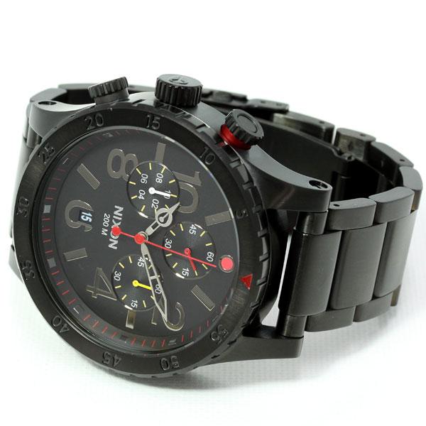 Nixon NIXON 48-20 Chrono 48-20 CHRONO watch mens chronograph black / multi NA4861320-00