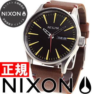 【SHOP OF THE YEAR 2018 受賞】ニクソン NIXON セントリーレザー SENTRY LEATHER 腕時計 メンズ ブラック/ブラウン NA105019-00