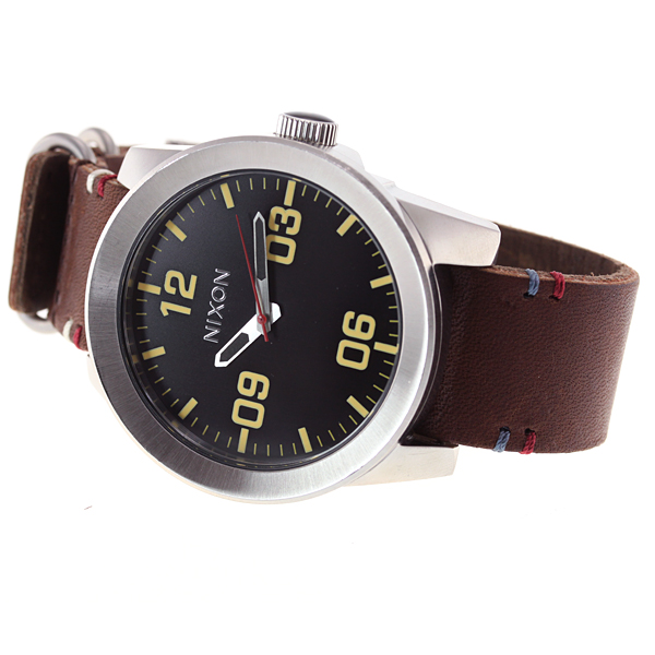 Nixon NIXON コーポラル CORPORAL watch men black / brown NA243019-00