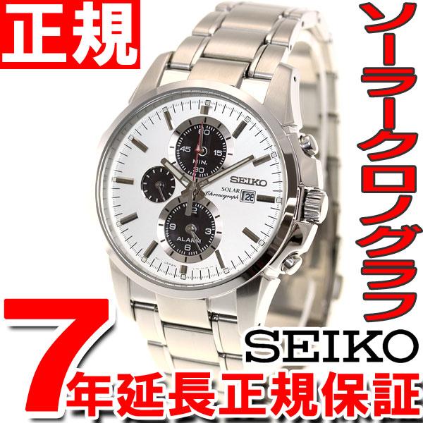 セイコー SEIKO ソーラー 腕時計 メンズ セイコー 逆輸入 クロノグラフ SSC083P1(SSC083PC)