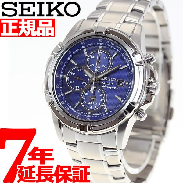 【5日0時~♪2000円OFFクーポン&店内ポイント最大51倍!5日23時59分まで】セイコー SEIKO ソーラー 腕時計 メンズ セイコー 逆輸入 クロノグラフ SSC141P1(SSC141PC)