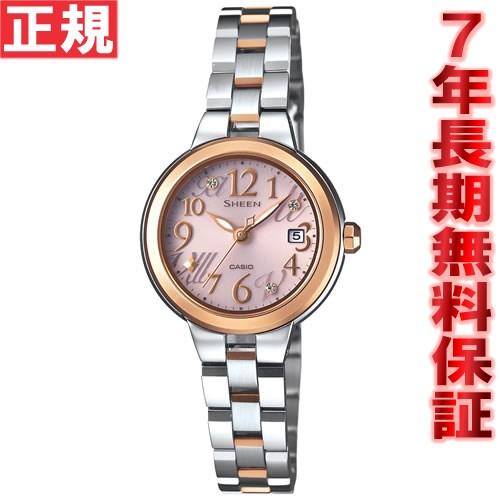カシオ シーン CASIO SHEEN ソーラー 腕時計 レディース アナログ SHE-4506SBS-4AJF