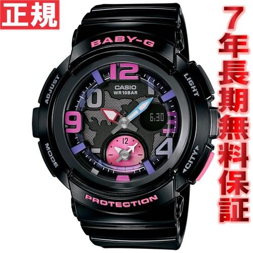 BABY-G カシオ ベビーG 腕時計 レディース ビーチ・トラベラー ブラック アナデジ BGA-190-1BJF【送料無料】