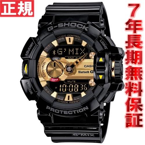 G-SHOCK ブラック×ゴールド Bluetooth SMART対応スマートフォン連携モデル G'MIX 腕時計 メンズ アナデジ GBA-400-1A9JF