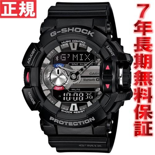 【お買い物マラソンは当店がお得♪本日20より!】G-SHOCK ブラック Bluetooth SMART対応スマートフォン連携モデル G'MIX 腕時計 メンズ アナデジ GBA-400-1AJF