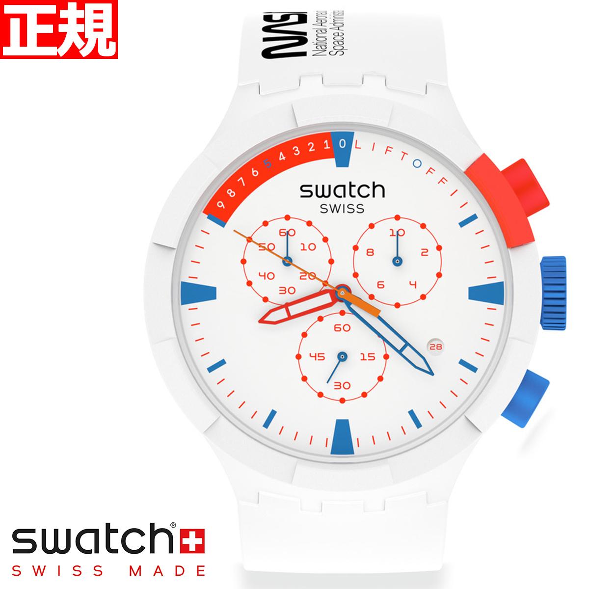 swatch スウォッチ 腕時計 メンズ レディース スペースコレクション ビックボールド クロノ エクストゥラヴィヒキュラ SPACE COLLECTION Chrono Extravehicular SB04Z400