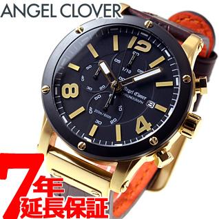 【5日0時~♪10%OFFクーポン&店内ポイント最大51倍!5日23時59分まで】エンジェルクローバー Angel Clover 腕時計 メンズ エクスベンチャー クロノグラフ EXVENTURE CHRONO EVC46YBK-BW