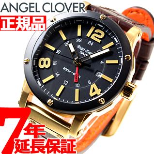 【お買い物マラソンは当店がお得♪本日20より!】エンジェルクローバー Angel Clover 腕時計 メンズ エクスベンチャー GMT EXVENTURE GMT EVG46YBK-BW