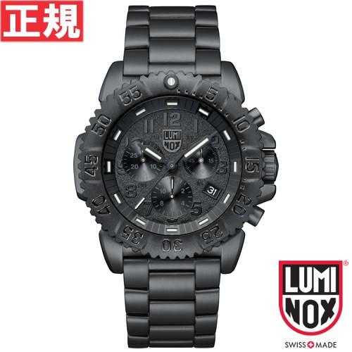 【お買い物マラソンは当店がお得♪本日20より!】ルミノックス LUMINOX 腕時計 メンズ ネイビーシールズ NAVY SEALS STEEL COLORMARK 3180 ブラックアウト クロノグラフ 3182Blackout
