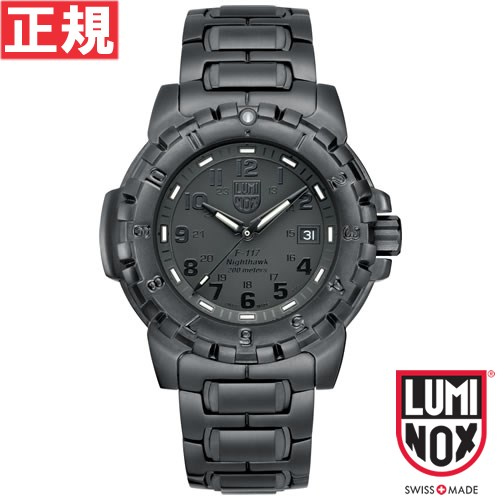ルミノックス LUMINOX 腕時計 メンズ F-117 ナイトホーク NIGHTHAWK 6400 SERIES ブラックアウト 6402Blackout