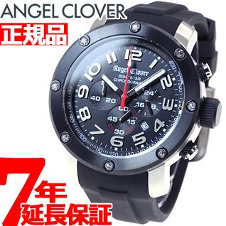 エンジェルクローバー Angel Clover 腕時計 メンズ エイトスター 8ght STAR クロノグラフ NES46SBK-BK