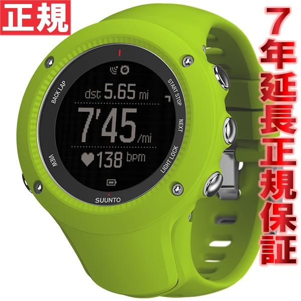 【お買い物マラソンは当店がお得♪本日20より!】スント アンビット3 ラン ライム SUUNTO AMBIT3 RAN LIME 腕時計 Bluetooth搭載 GPSウォッチ SS021260000