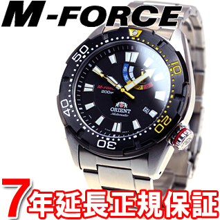 오리엔트 엠 포스 ORIENT M-FORCE 200m 부흥 REVIVAL이 바즈 워치 시계 남성용 오토매틱 오토매틱 WV0181EL
