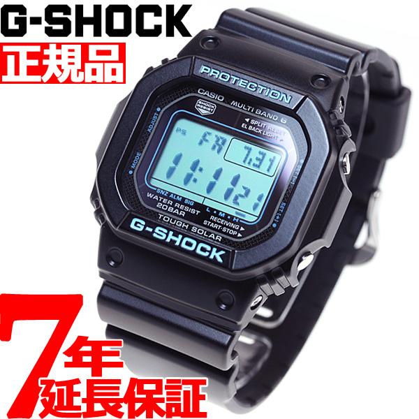 G-SHOCK 電波 ソーラー 電波時計 ブラック×ブルー デジタル 5600 GW-M5610BA-1JF 腕時計 メンズ タフソーラー GW-M5610BA-1JF