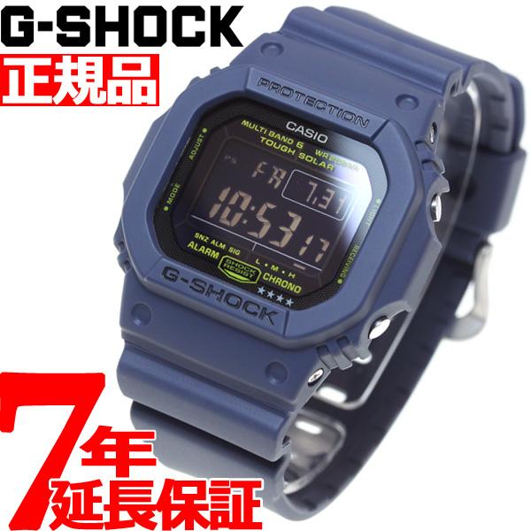 G-SHOCK 電波 ソーラー 電波時計 ネイビー ブルー 5600 腕時計 メンズ タフソーラー デジタル GW-M5610NV-2JF