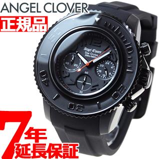 エンジェルクローバー Angel Clover 腕時計 メンズ シークルーズ SEA CRUISE ダイバーズウォッチ クロノグラフ SC47BBK-BK