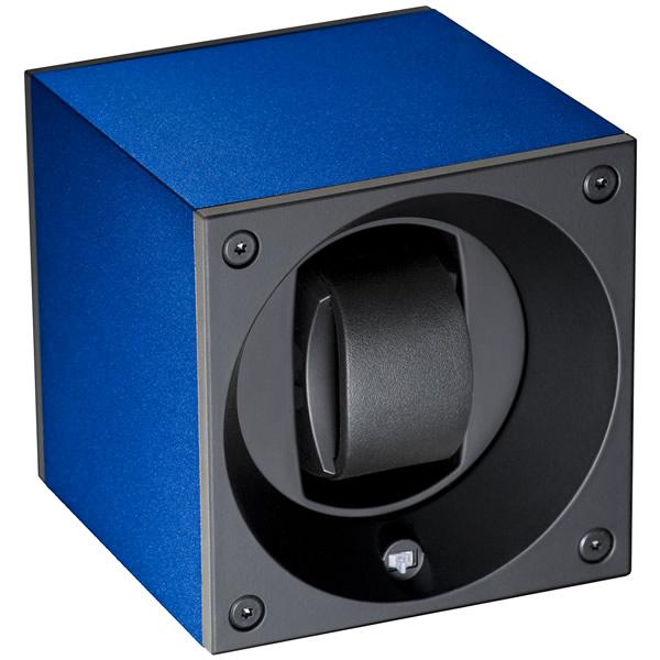 スイスキュービック SWISS KubiK ワインディングマシーン ウォッチワインダー 1本 アルミニュームコレクション ネイビーブルー SK01.AE004