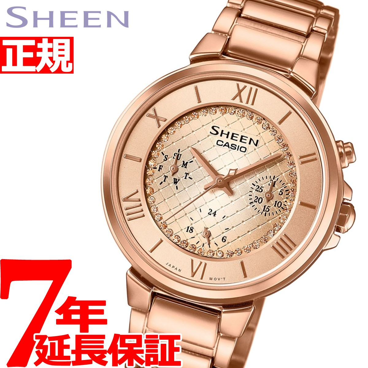 【お買い物マラソンは当店がお得♪本日20より!】カシオ シーン CASIO SHEEN 腕時計 レディース アナログ SHE-3040GJ-9AJF