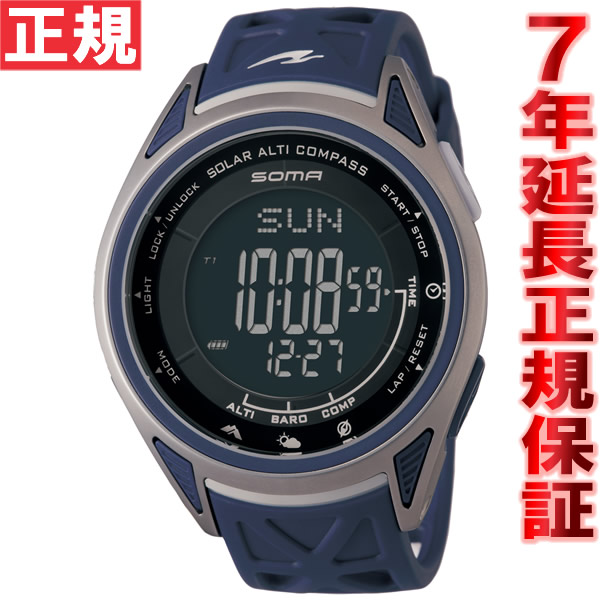 【お買い物マラソンは当店がお得♪本日20より!】SOMA ソーマ GO OUT コラボ 限定モデル ソーラー 腕時計 ライドワン ソーラーアルチコンパス RideONE SOLOR ALTI COMAPSS NS24702