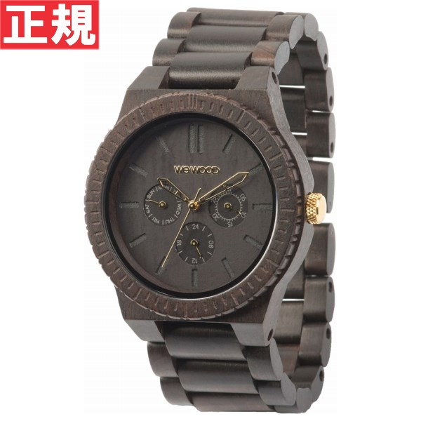 【お買い物マラソンは当店がお得♪本日20より!】WEWOOD ウィーウッド 腕時計 木製 マルチファンクション KAPPA BLACK/GOLD 9818031