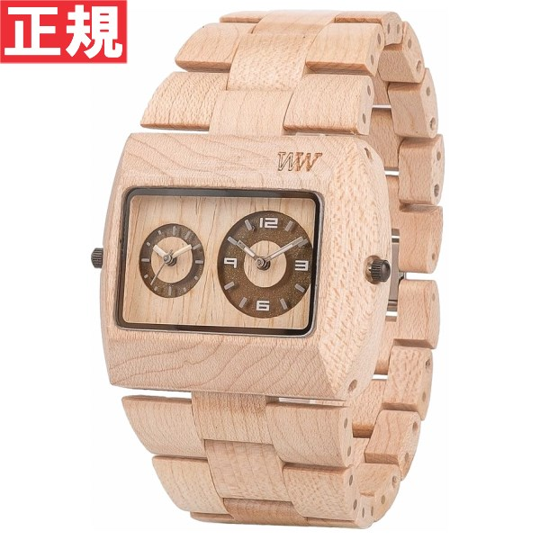 【お買い物マラソンは当店がお得♪本日20より!】WEWOOD ウィーウッド 腕時計 木製 JUPITER rs BEIGE デュアルタイム 9818071