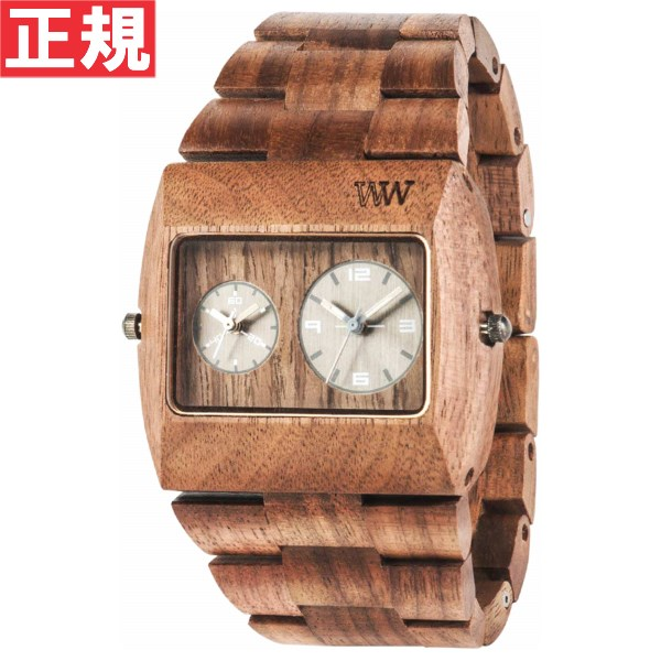 WEWOOD ウィーウッド 腕時計 木製 JUPITER rs NUT デュアルタイム 9818073