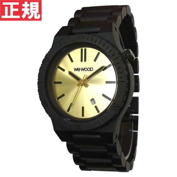 WEWOOD ウィーウッド 腕時計 木製 ARROW BLACK GOLD カレンダー 9818085