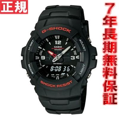 【お買い物マラソンは当店がお得♪本日20より!】G-SHOCK カシオ 腕時計 アナログ G-100-1BMJF CASIO G-SHOCK