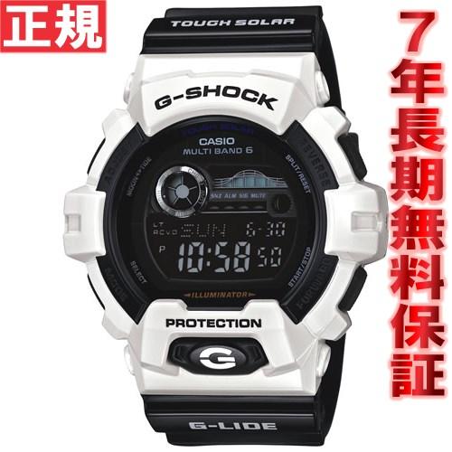 G-SHOCK 電波 ソーラー 電波時計 ホワイト 白 G-LIDE カシオ Gショック Gライド CASIO 腕時計 メンズ 電波時計 タフソーラー GWX-8900B-7JF