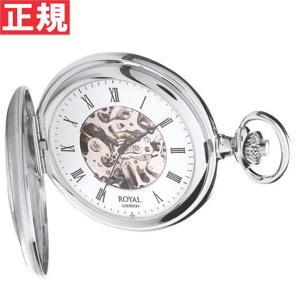 ロイヤルロンドン ROYAL LONDON 懐中時計 ポケットウォッチ デミハンター 手巻き 90009-02