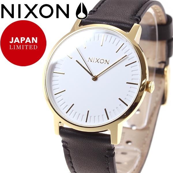 10%OFFクーポン!31日23:59まで! ニクソン NIXON ポーターレザー PORTER LEATHER 限定モデル 腕時計 メンズ/レディース ゴールド/ブラック NA10582523-00