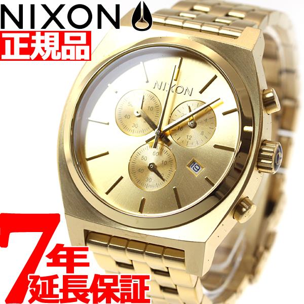 【SHOP OF THE YEAR 2018 受賞】ニクソン NIXON タイムテラークロノ TIME TELLER CHRONO 腕時計 メンズ/レディース オールゴールド NA972502-00
