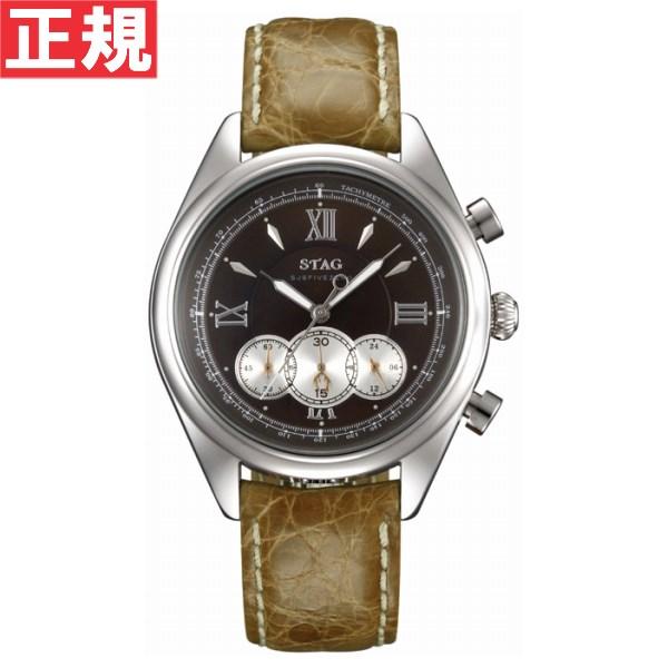 STAG スタッグ 腕時計 メンズ SJSFIVEZERO クロノグラフ クロコレザー 日本製 クォーツ STG004S1